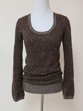 Marc Jacobs Sweater Speckled Cashmere-Silk Knit Pullover Brown Size Extra Small