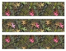 Mossy Oak with pink leaves Camo edible cake strips cake topper decorations