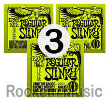 Ernie Ball 2221 Regular Slinky 10 - 046 Electric Guitar Strings 3 x SETS