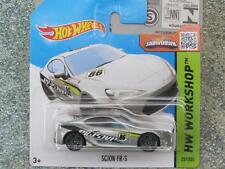 Hot wheels 2015 #237/250 scion fr-s silver hw workshop case q