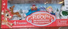 RUDOLPH THE RED NOSED REINDEER 4 FIGURE SET