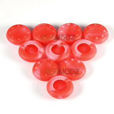 10 X Red & Clear Silicone Thumb stick Grips For Xbox 360 Xbox One PS3 PS4 WII