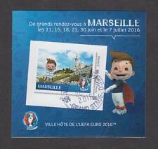 France - Bloc autocollant oblitéré Euro de Football UEFA 2016 - Marseille - TB