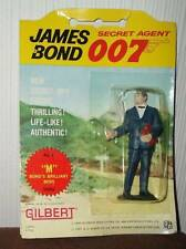 JAMES BOND vintage 1965 Gilbert figures M carded rare sean connery