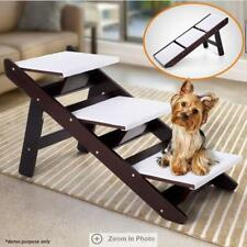 Portable 3 Steps Foldable Doggy Cat Pet Dog Stairs Ramp Ladder Washable Cover