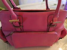 PINK LEATHER LIZ CLAIRBORNE SHOULDER BAG NWOT