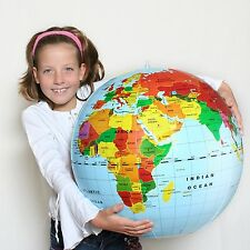 "GLOBE* Big 20"" Inflatable World Globe #76000  ~Tedco Toys"