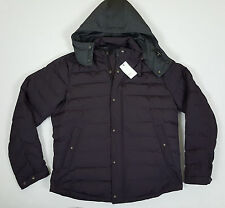 VINCE TAFFETA QUILTED DOWN HOODED JACKET BLACK CHERRY $675 NWT RARE (SIZE LARGE)
