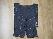 Women's Black silver studded leggings / Two pairs UK 8