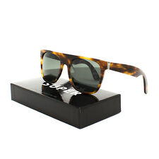 RETROSUPERFUTURE Super Flat Top Geometria Sunglasses SU7BF Havana Brown Art Deco