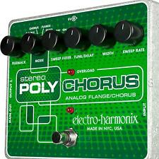 Electro-Harmonix Stereo PolyChorus Analog Poly Chorus Guitar Effects Pedal NEW