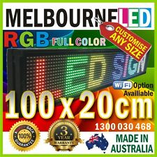 LED RGB FULL COLOR Message Display Scrolling SIGN 100x20cm USB Drive Control