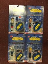 lot of 4 VINTAGE 1998 BEAVIS & BUTTHEAD ACTION FIGURE SET MTV MIKE JUDGE MOORE