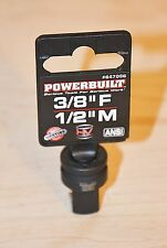 New Powerbuilt 3/8 inch Female  to 1/2 inch Male Impact Adapter