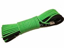 """Green Synthetic Winch Rope Line Cable 1/4""""x50' 7000 LB With Rock Guard For ATV"""