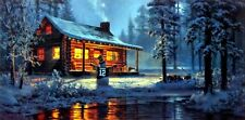 """Another White Christmas Green Bay Packers Print By Don Kloetzke  19"""" x 9.5"""""""