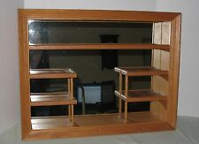 Wood mirror Cabinet Wall Shelf Shadow Box Wooden Display