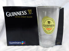 Pair of Luminarc Guinness Pint Glass / Glasses - Vintage Design - BNIB