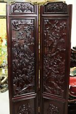 Double Face Carver  Solid Rosewood 2 Panel Screen Room Divider