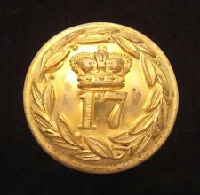 17th (Leicestershire) Regiment of Foot 1855-1881 Officers large Gilt button