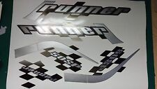Gilera Runner 50 sp new shape sticker set white soul REP, silver Printed Decals