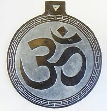 "T103 HAND CRAFTED ""Om"" STONE WALL HANGING MADE IN NEPAL"