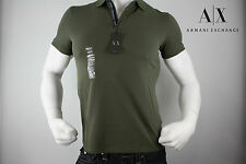 ARMANI EXCHANGE CLASSIC STRETCH POLO SHIRT NWT GREEN SIZE L