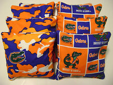 8 FLORIDA GATORS CORNHOLE BEAN BAG TAILGATE TOSS GAME BAGGO TOP QUALITY CAMO P