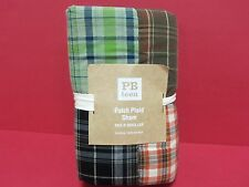 Pottery Barn Teen Patch Plaid Patchwork Bed Pillow Sham Quilted Standard