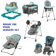 7 Pc Winnie Pooh Set Newborn Baby Infant Playard Stroller Car Seat Walker Swing