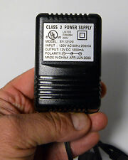 Power Supply Input 12v AC Output 12v DC 1200 mA New Dated  2003 on off switch