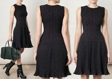 $4.500 NEW 36 38 XS S AZZEDINE ALAIA TOURBILLION PLEATED DRESS BLACK COCKTAIL