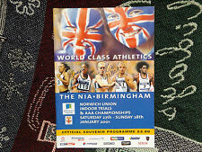 ATHLETICS AAA CHAMPIONSHIPS 2001 PROGRAMME SIGNED BY MARCIA RICHARDSON ZOE WILSO