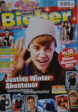 JUSTIN BIEBER - Picture Star Magazin 01/2012 + XXL Poster - Clippings Sammlung