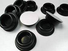 Feet Bumpers Round Sticky Mounted Black 46mm x 15.2mm BS30 Adhesive x 2 pcs ONO