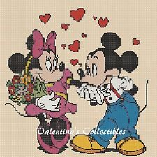 Counted Cross Stitch MICKEY & MINNIE'S IN LOVE - COMPLETE KIT  #27vc-2