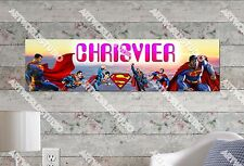 Personalized/Customized Superman Name Poster Wall Art Decoration Banner