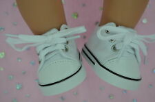 """Dolls Shoes For 17""""Baby Born~18""""American Girl  WHITE RUNNERS"""