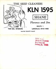 USA Shane KLN-1595 Lakeville OH Radio Club THE DIAL SPINNERS (S-L XX324)