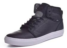 NEW Vans Alomar Mens 13 Reverse Black White Leather Skate Hi Top Shoes Sneakers