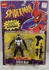 Spider-Man Animated Series Web Lair Black Costume KayBee Exclusive Toy Biz (MOC)