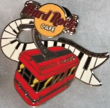 Hard Rock Cafe BOGOTA 2005 Red Cable Car w/Piano Keys PIN God Gave Us R&R #28237