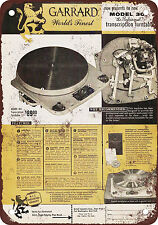 "1955 Garrard 301 Turntables 10"" x 7"" Reproduction Metal Sign"