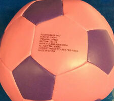 "Plush Soccer Ball, small for indoor play 6"" diameter"