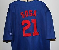 MLB Chicago Cubs Sammy Sosa #21 Russell Athletics Kids Blue 10/12 Sewn Jersey