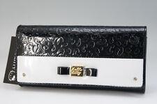 NEW HELLO KITTY Bi-Fold Wallet Enamel Black & White Free Ship _JP 608f11