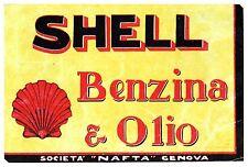 PUBBLICITA' SHELL BENZINA OLIO SOCIETA' NAFTA GENOVA CONCHIGLIA  1927