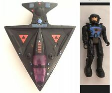 Starcom Shadowbat Plane/Vehicle: Vintage 1986 Coleco: Working,Major Klag Figure!