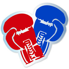 "Boxing gloves car bumper sticker decal 5"" x 5"""