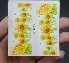 1pc Sunflower Water Decals Charming Nail Art Transfer Stickers Decor
